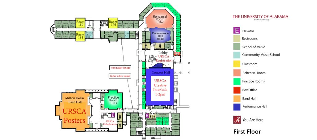 First floor map, Moody Hall